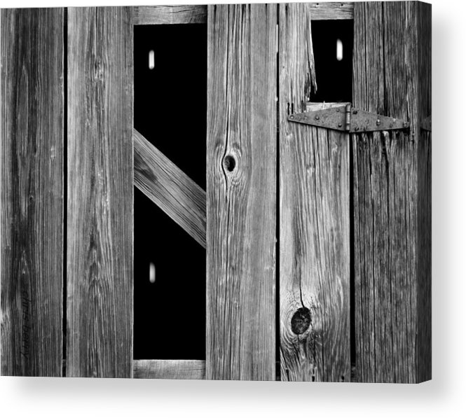 Wood Acrylic Print featuring the photograph Tobacco Barn Wood Detail by Chris Berry