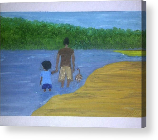 Landscape Acrylic Print featuring the painting Together by Michele Moore