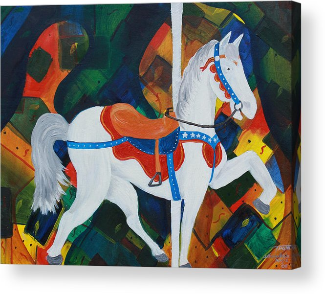 Horse Acrylic Print featuring the painting Unforgettable Magic by Tammy Dunn