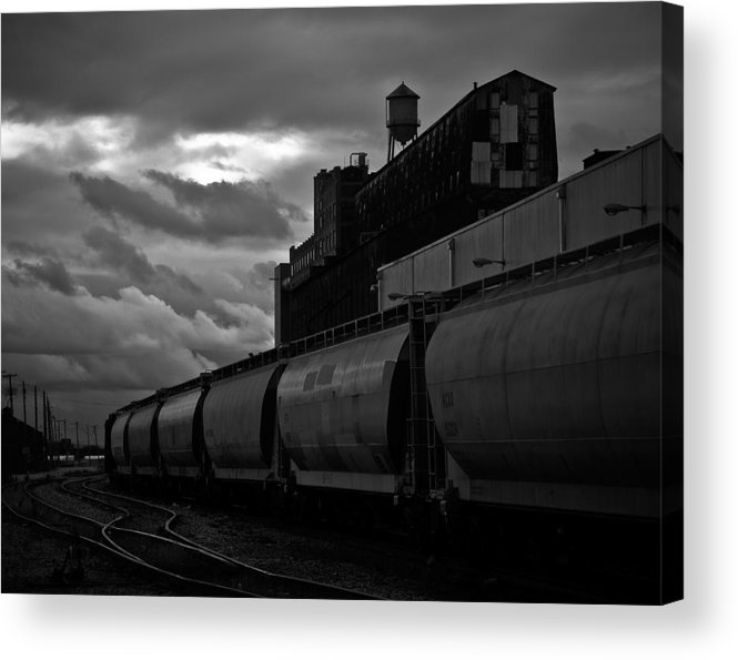 Black And White Acrylic Print featuring the photograph Untitled Train by Merle Foraker