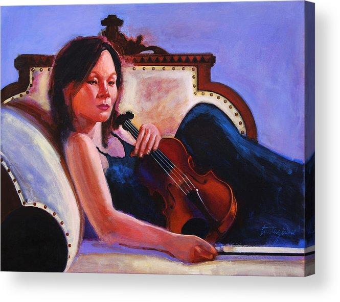 Portrait Acrylic Print featuring the painting Violino by John Tartaglione
