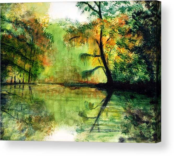 Waccamaw Acrylic Print featuring the painting Waccamaw River Sc by Phil Burton