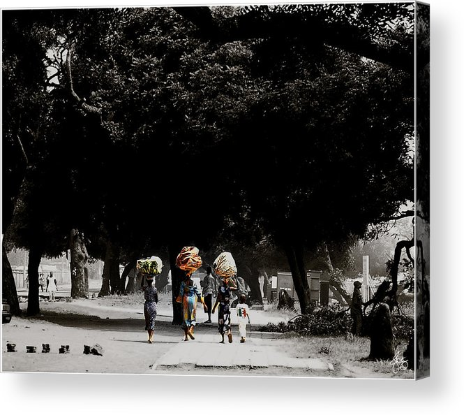 Color Acrylic Print featuring the photograph Washday In Accra by Wayne King