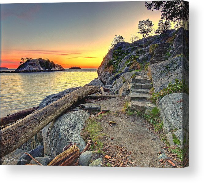 Whytecliff Park Acrylic Print featuring the photograph Whytecliff Park Sunset by Peter OBrien