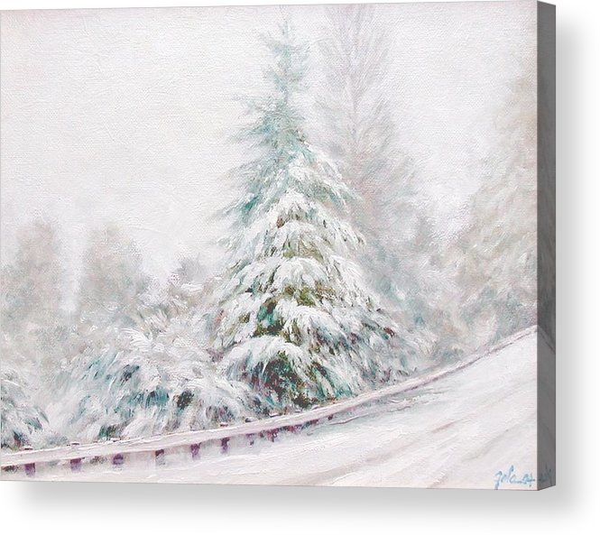 Winter Landscape Acrylic Print featuring the painting Winter Of 04 by Jim Gola