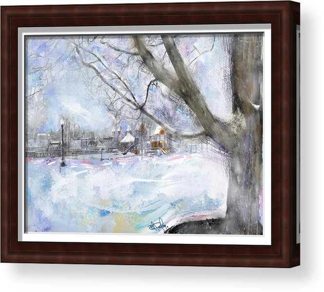 Landscape Acrylic Print featuring the painting Winter Playgound II by Donald Pavlica
