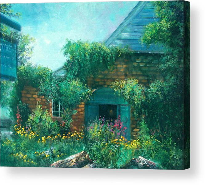 Wine Acrylic Print featuring the painting York Mountain Winery by Sally Seago