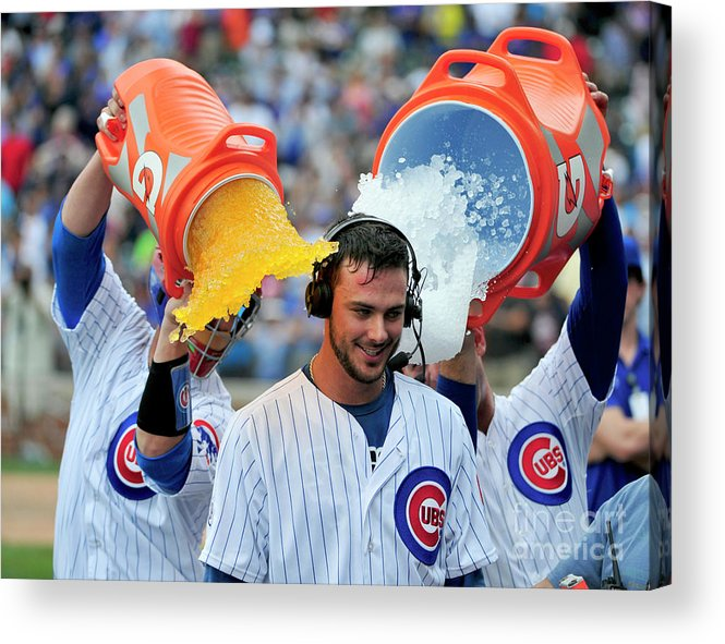 Ninth Inning Acrylic Print featuring the photograph Cleveland Indians V Chicago Cubs 1 by David Banks