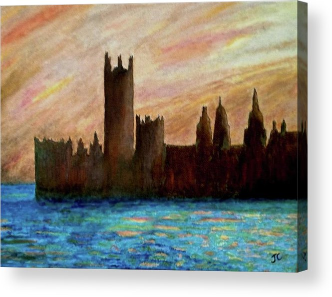 Monet Acrylic Print featuring the painting Houses Of Parliament by John Cunnane
