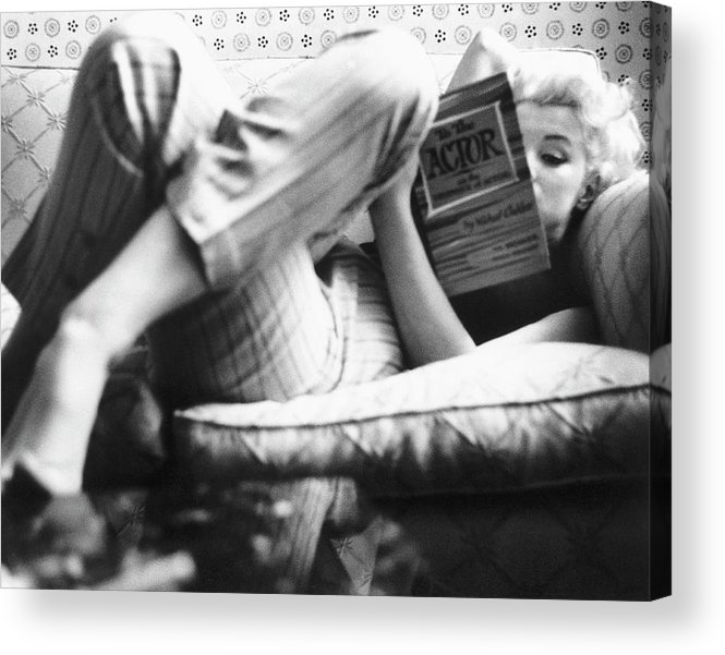 People Acrylic Print featuring the photograph Marilyn Candid Moment 1 by Michael Ochs Archives