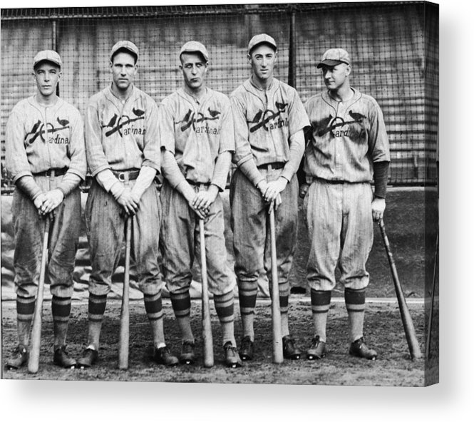 St. Louis Cardinals Acrylic Print featuring the photograph 1926 St. Louis Cardinals by Hulton Archive