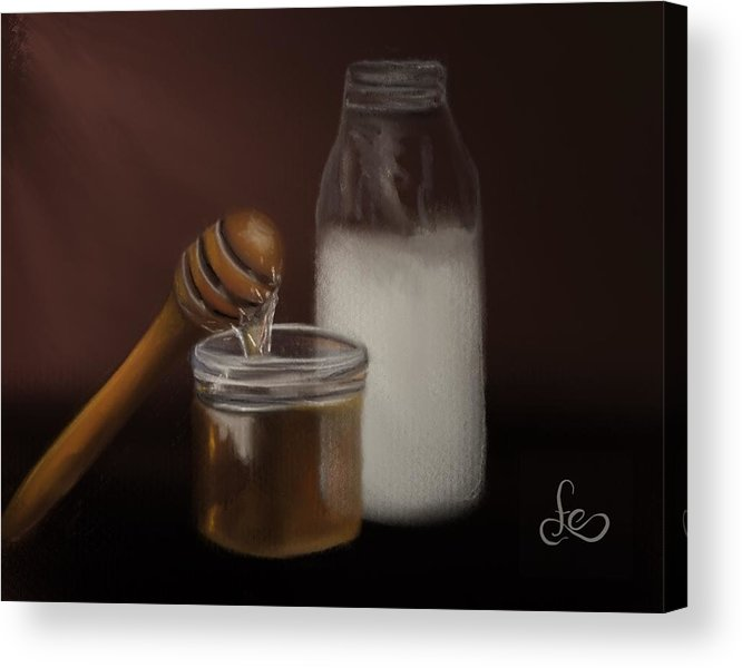 Acrylic Print featuring the painting Milk And Honey by Fe Jones