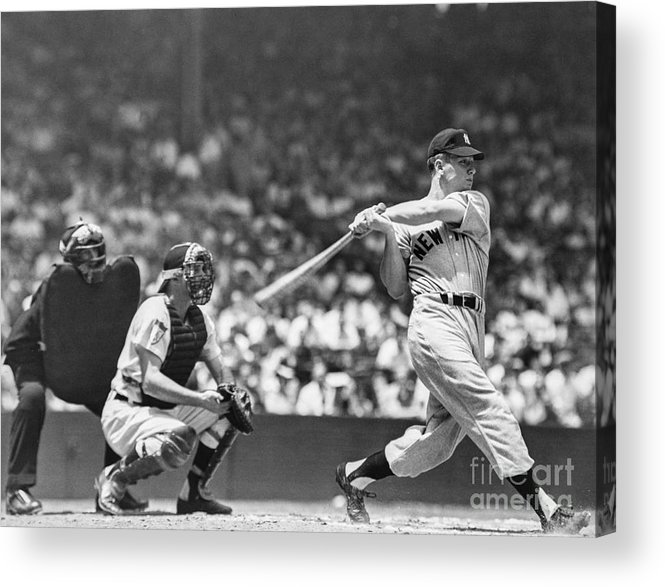 American League Baseball Acrylic Print featuring the photograph New York Yankees by The Stanley Weston Archive