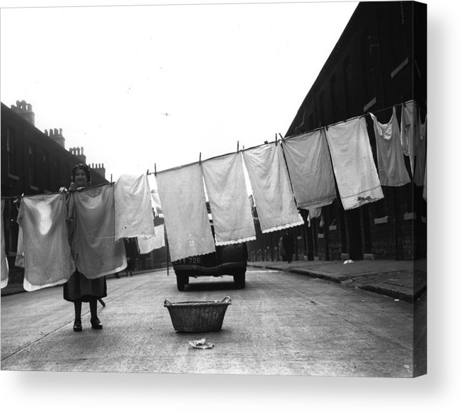 Out Of Context Acrylic Print featuring the photograph Washing Day by Fox Photos