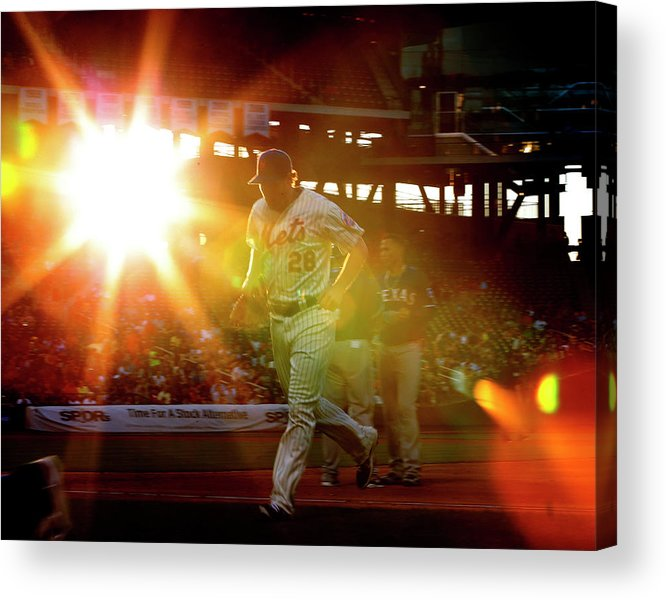 American League Baseball Acrylic Print featuring the photograph Daniel Murphy by Rich Schultz