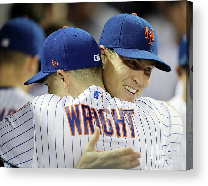 Jacob Degrom Acrylic Print featuring the photograph Jacob Degrom And David Wright by Elsa