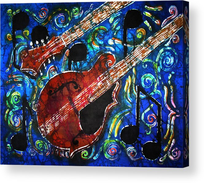 Mandolins Acrylic Print featuring the painting Mandolin by Sue Duda