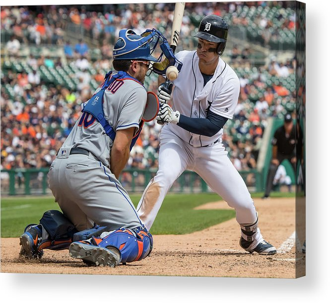 Baseball Catcher Acrylic Print featuring the photograph New York Mets V Detroit Tigers 1 by Dave Reginek