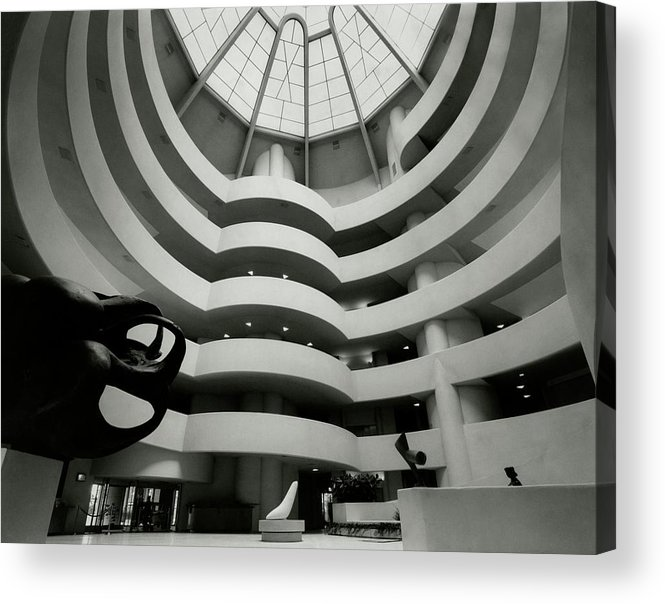 Frank Lloyd Wright Acrylic Print featuring the photograph The Guggenheim Museum In New York City by Eveyln Hofer