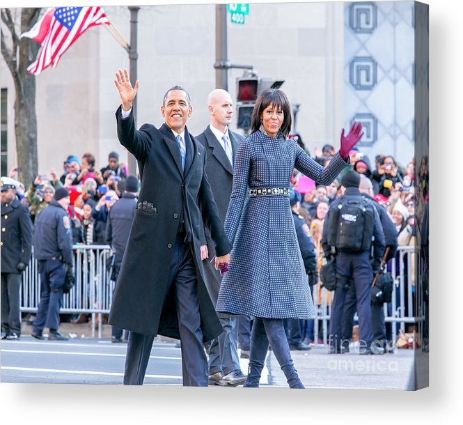 Obama Acrylic Print featuring the photograph 2013 Inaugural Parade by Ava Reaves