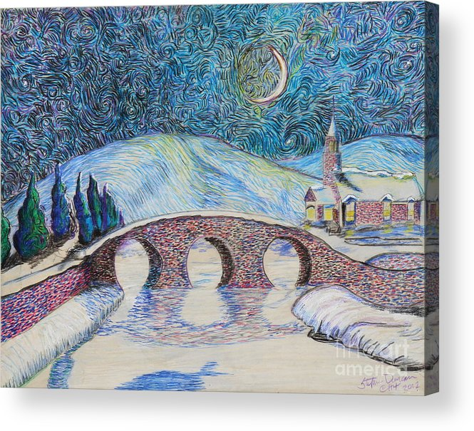 Prismacolor Acrylic Print featuring the painting Bridge To Eternity by Stefan Duncan