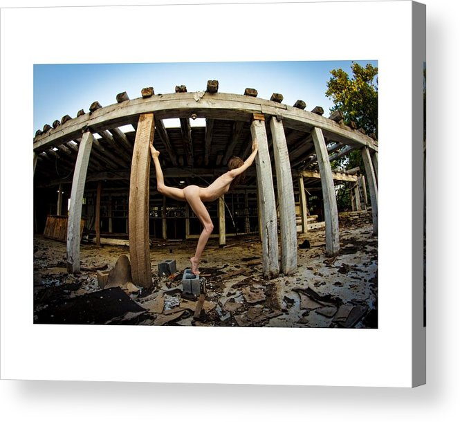 Nude Acrylic Print featuring the photograph Untitled by Addam Wolff