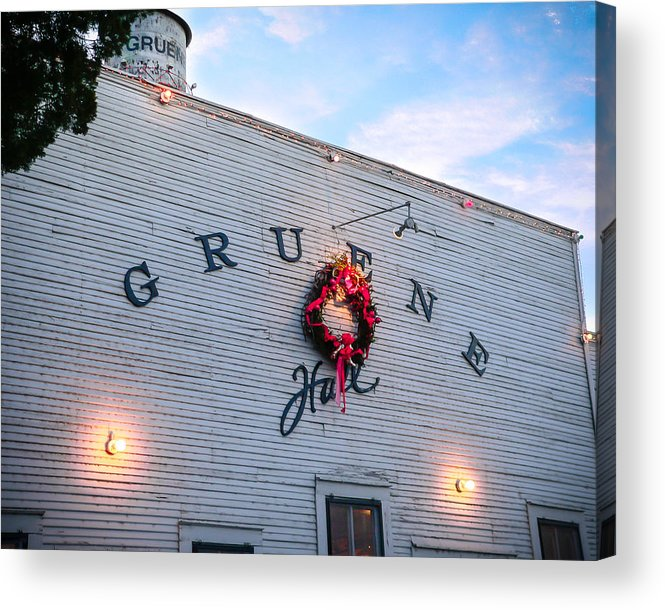 Gruene Acrylic Print featuring the photograph A Gruene Christmas by Debbie Karnes