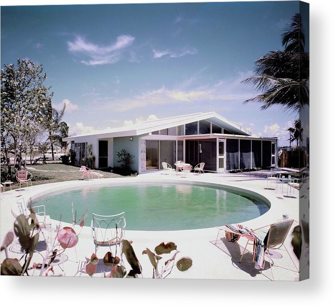 Miami Acrylic Print featuring the photograph A House In Miami by Tom Leonard