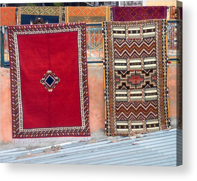 Marrakesh Acrylic Print featuring the photograph All You Need Is A Carpet And A Dream by A Rey
