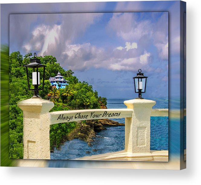 Ocean Acrylic Print featuring the photograph Always Chase Your Dreams by Mary Young