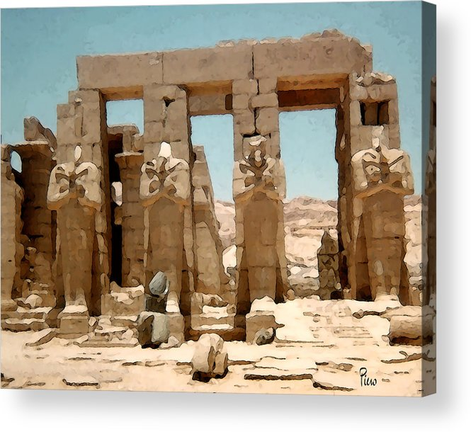 Art Acrylic Print featuring the photograph Ancient Egypt by Piero Lucia
