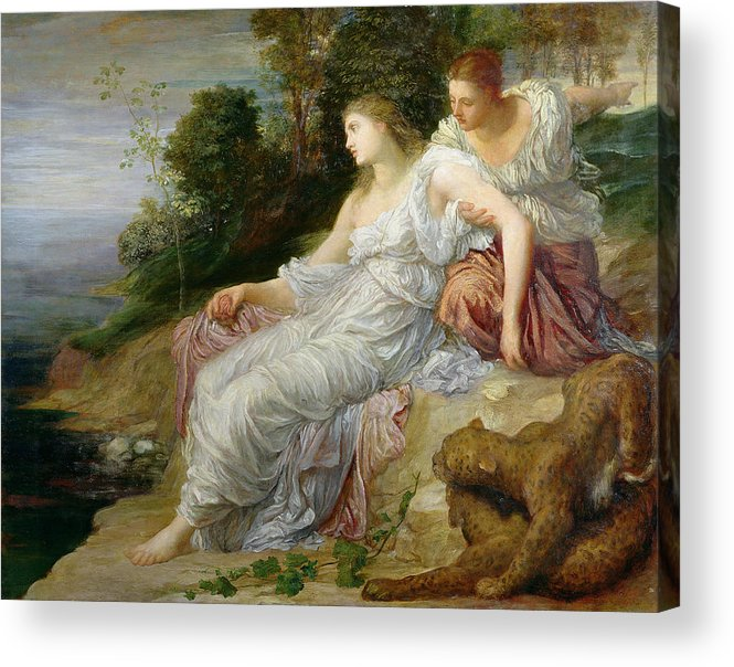Pre-raphaelite Acrylic Print featuring the photograph Ariadne In Naxos, 1875 Oil On Canvas by George Frederick Watts