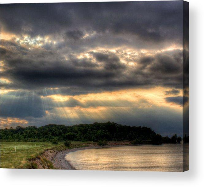 Lake Ontario Acrylic Print featuring the photograph Art For Crohn's Lake Ontario Sun Beams by Tim Buisman