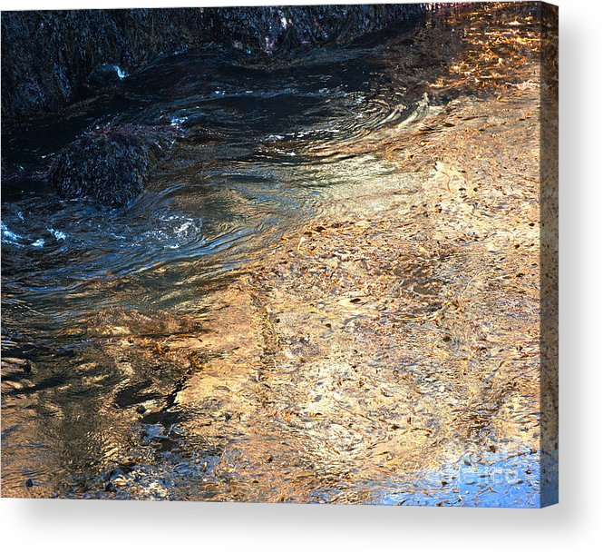 Big Sur Acrylic Print featuring the photograph As The Ocean Wave Swirled It Looked Like Gold by Artist and Photographer Laura Wrede