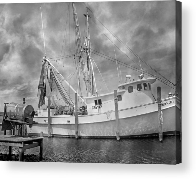 Ship Acrylic Print featuring the photograph At Rest In The Harbor by Betsy Knapp