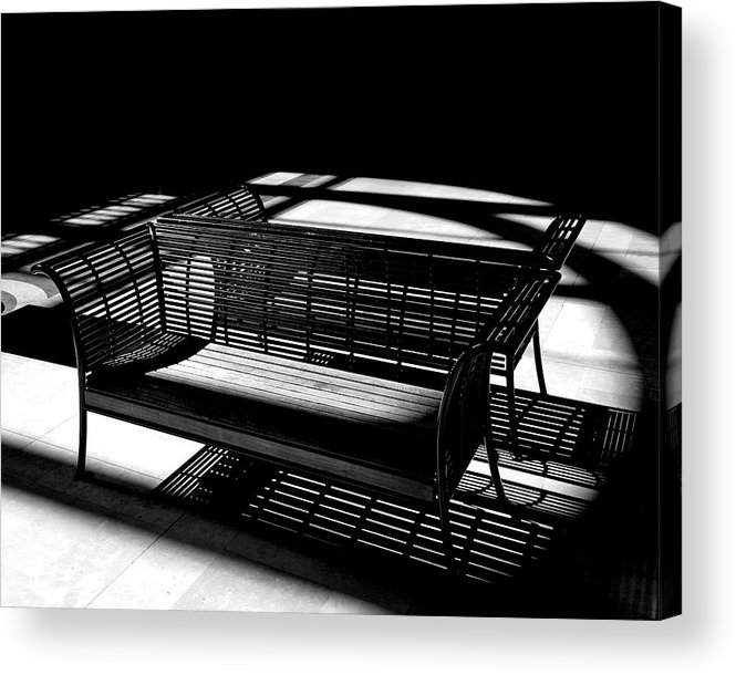 Bench Acrylic Print featuring the photograph Bench Shadows by Christopher McKenzie