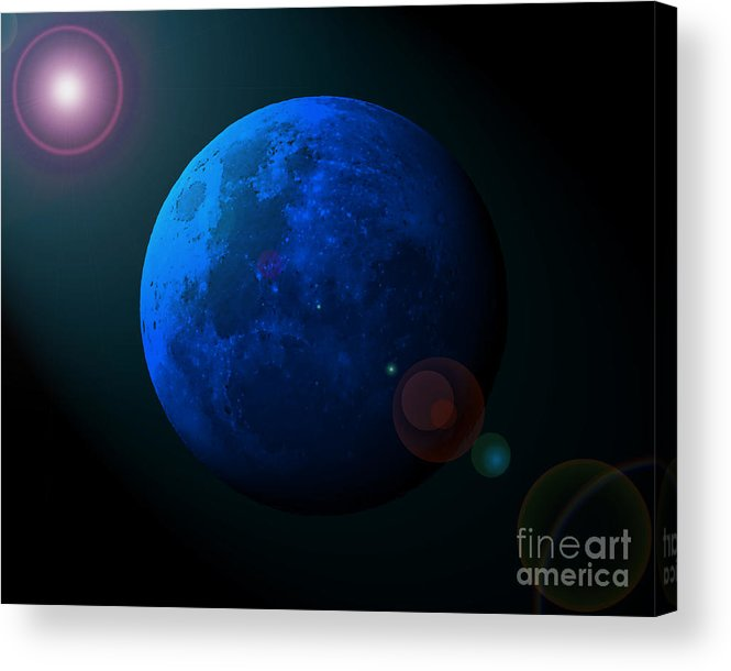 Moon Acrylic Print featuring the photograph Blue Moon Digital Art by Al Powell Photography USA