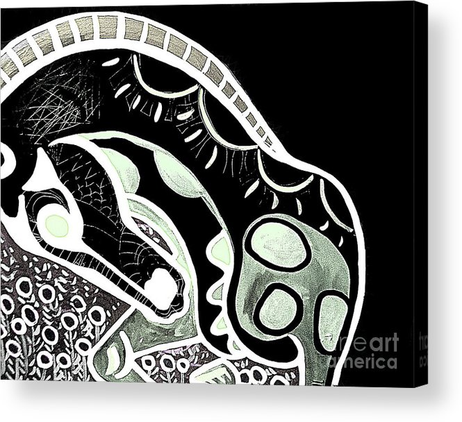 Horse Acrylic Print featuring the painting Bw Horse by Amy Sorrell