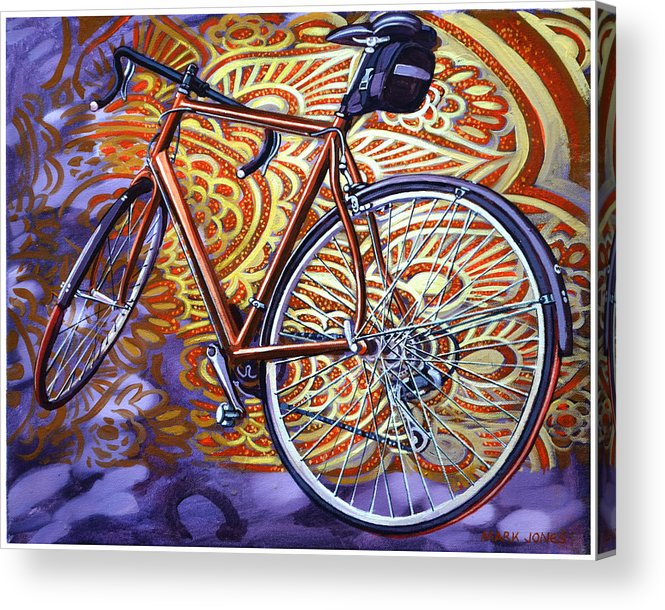Bicycle Acrylic Print featuring the painting Cannondale by Mark Howard Jones