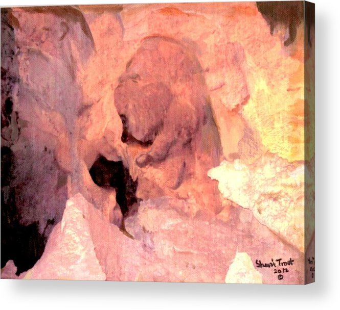 Bear Acrylic Print featuring the painting Cave Bear by Sherri Trout