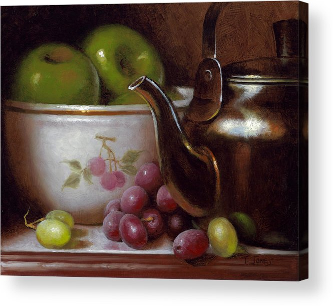China Acrylic Print featuring the painting China Bowl And Teapot by Timothy Jones