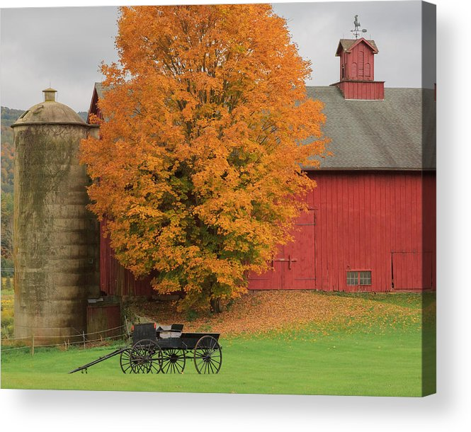 Bucolic Acrylic Print featuring the photograph Country Wagon by Bill Wakeley