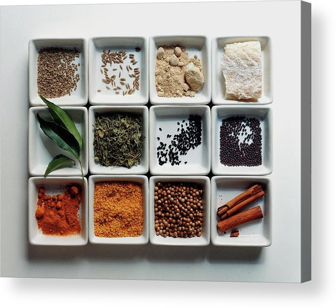 Cooking Acrylic Print featuring the photograph Dishes Of Spices by Romulo Yanes