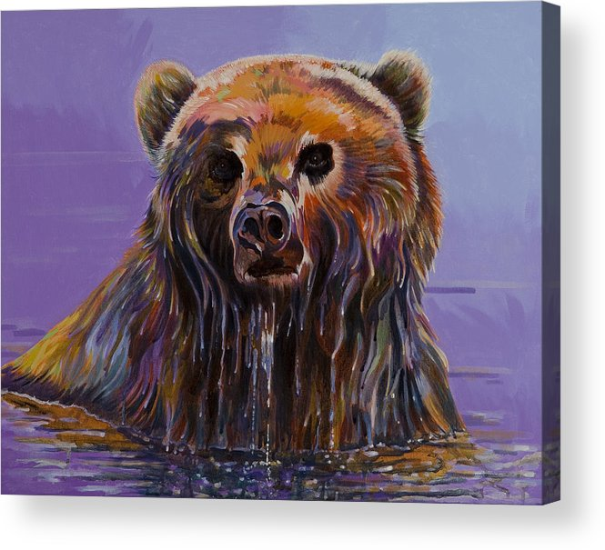 Wildlife Paintings Acrylic Print featuring the painting Embarrassed by Bob Coonts