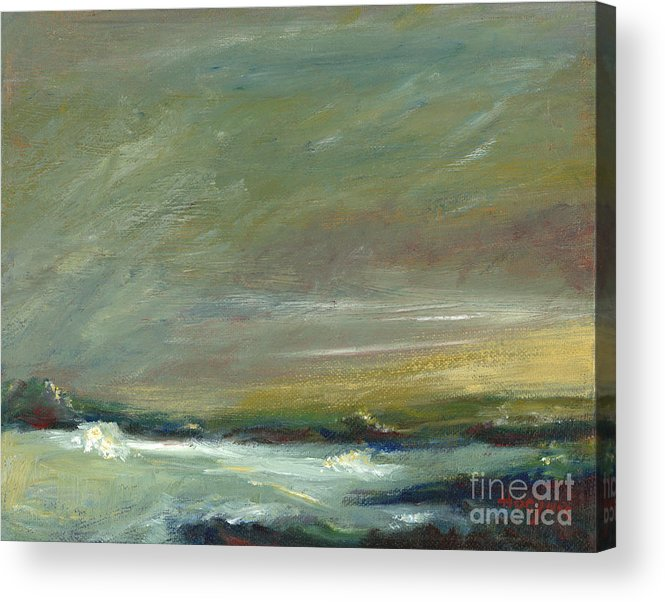 Evening's Approach Acrylic Print featuring the painting Evening's Approach by Addie Hocynec