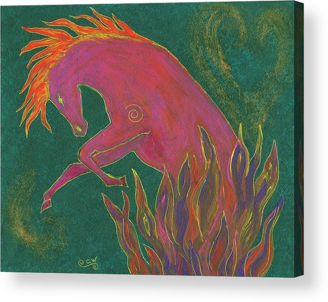 Horse Acrylic Print featuring the painting Fire Dancer by Carey Waters