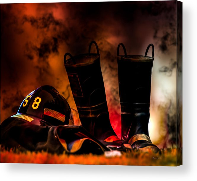 Courage Acrylic Print featuring the photograph Firefighter by Bob Orsillo