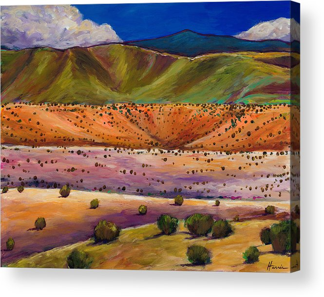 New Mexico Acrylic Print featuring the painting Foothill Approach by Johnathan Harris