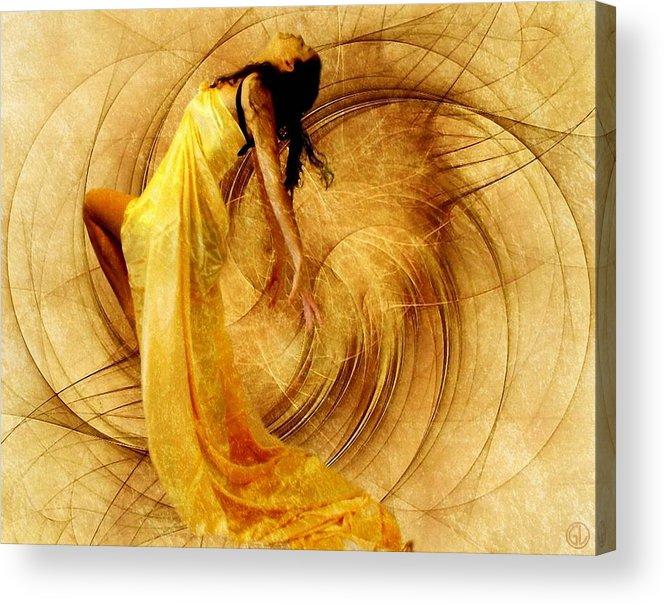 Girl Acrylic Print featuring the digital art Fractal Dance Of Joy by Gun Legler