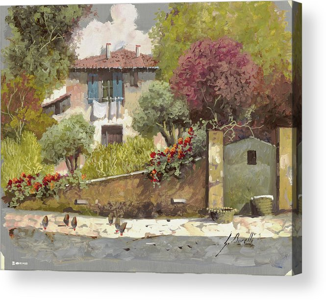 Silber Acrylic Print featuring the painting Galline by Guido Borelli